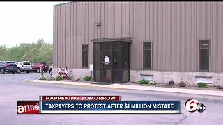 Taxpayers to protest after $1 million mistake - Video