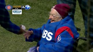 Sister Jean throws out first pitch at Wrigley for Cubs opener - Video