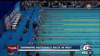 Swimming nationals back in Indy - Video