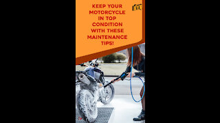 Top 3 Basic Tips to Maintain Your Motorcycle In An Excellent Condition *