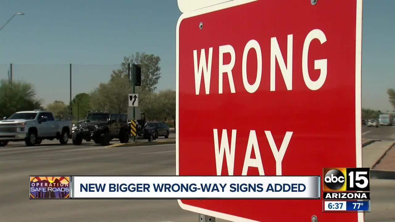 ADOT upgrading, installing new wrong-way prevention signs around the Valley