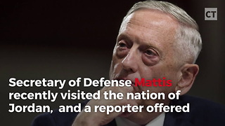 Mattis Reveals Ominous Reason He Doesn't Carry Coins