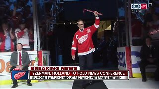 Detroit Red Wings to hold news conference with Steve Yzerman