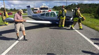 Plane makes emergency landing on Federal Highway in Martin County
