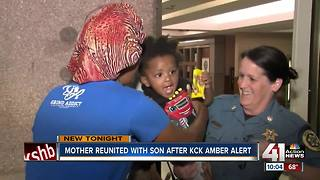 Mom reunited with son after KCK AMBER Alert - Video