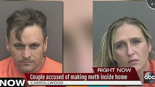 Couple accused of making meth inside home