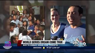 Boy wins World Series tickets via essay - Video