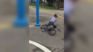 Learning To Ride A Bike Fail - Video