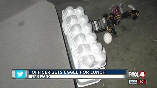 Teens charged with throwing egg at police officer on bike - Video