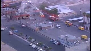 Fire near Sahara & 6th Street | Breaking news
