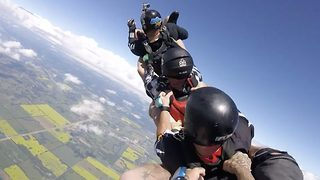 Sleigh ride – Cool runnings inspired skydive - Video