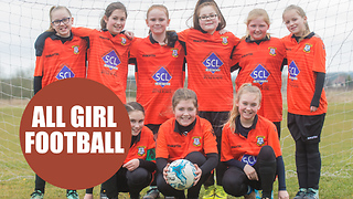 An unbeaten girls' football squad have been crowned the best team in EUROPE - Video
