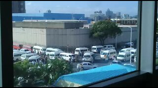 SOUTH AFRICA - Durban - Taxi protest in Durban (Video) (b5w)