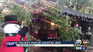 Miracle Christmas pop-up bar in Delray Beach - Video