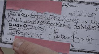 Woman: state tax check stolen from USPS collection box