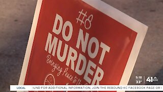 Yard signs placed at homicide scenes