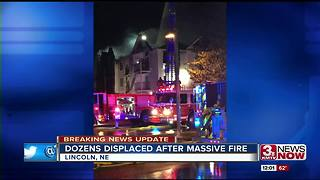 Fire in Lincoln displaces dozens - Video