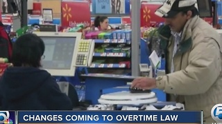 Changes coming to overtime law