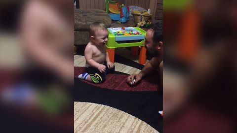 Baby Discovers Dad's Comedic Talent