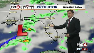Forecast: A cloudy day expected Monday with a few showers