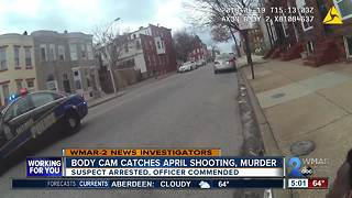 Baltimore Police body camera catches April murder in progress - Video