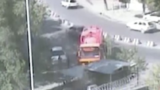 Surveillance Footage Shows Kabul Truck Bomb Explode - Video