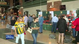 Families enjoying Fall Sports and Outdoors Show at Lambeau Field - Video