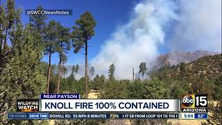 Knoll wildfire near Payson now fully contained - Video