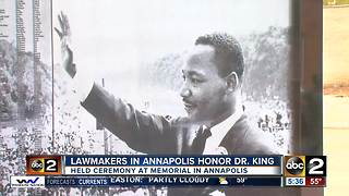 Lawmakers in Annapolis honor Dr. Martin Luther King Jr. - Video