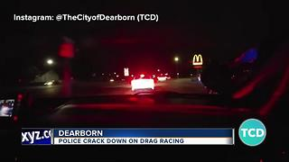 Police crack down on drag racing in Dearborn - Video
