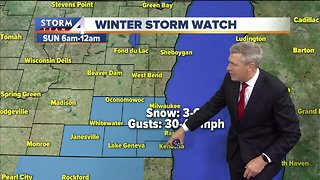 Winter storm watch in effect this weekend