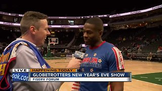 Shaun Gallagher's Harlem Globetrotters pregame interview - Video