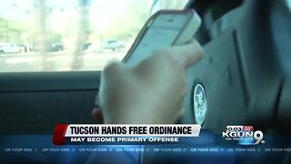 Discussion of change in the hands-free ordinance next week - Video