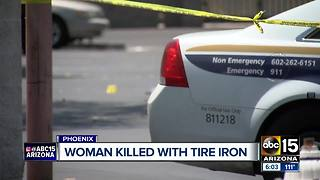 Woman found beaten to death with tire iron in Phoenix, suspect in custody - Video