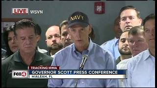 Hurricane Irma: Gov. Scott gives Thursday morning updates from Hialeah, Fla. - Video
