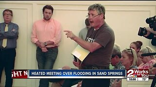 Sand Springs flood victims get heated with officials in community forum