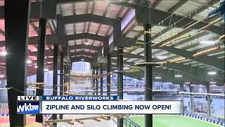 Brand new 2-level ropes course at Buffalo Riverworks - Video