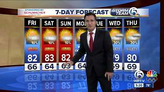Latest Weather Forecast 6 p.m. Thursday - Video