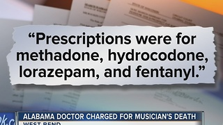 Alabama doctor charged in musician's death