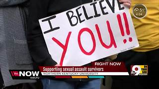 NKU students rally to support sexual assault survivors - Video