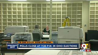 Election workers counting ballots - Video