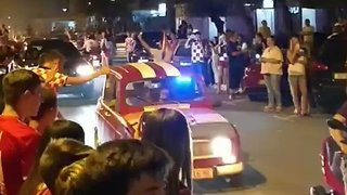 Celebrations Break Out in Croatia Streets After England Victory Advances Team to Final - Video