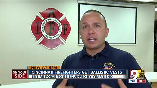 Cincinnati firefighters get ballistic vests - Video