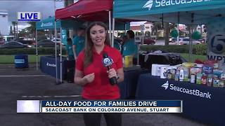 All-day food drive at Seacoast Bank in Stuart - Video