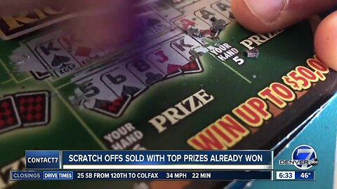 Some Colorado Lottery scratch-offs stay on shelves weeks after top prizes already claimed