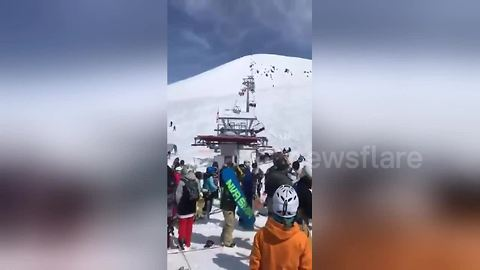 Tourists flung from out-of-control ski lift in Georgia