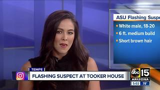 ASU police looking for flashing suspect at Tooker House - Video