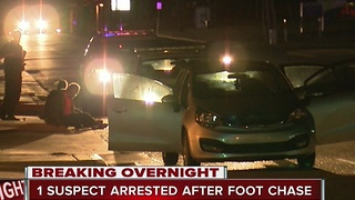 Larceny suspect arrested after foot chase - Video