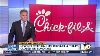 NFL stadium has Chick-fil-A closed on Sundays? - Video