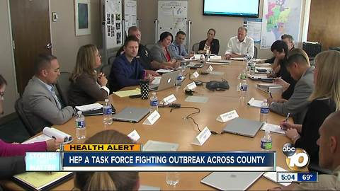 Hep A task force fighting outbreak across San Diego County
